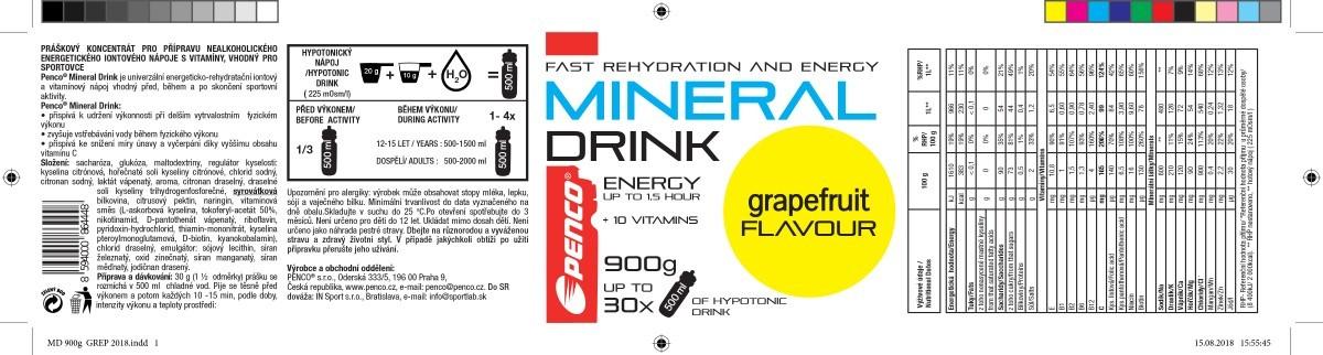 Electrolyte drink  MINERAL DRINK  Grapefruit č.5