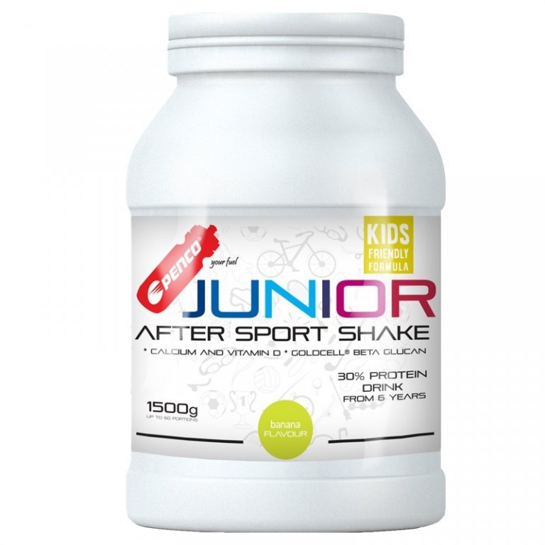 Recovery drink for juniors  JUNIOR AFTER SPORT SHAKE 1500g  Banana