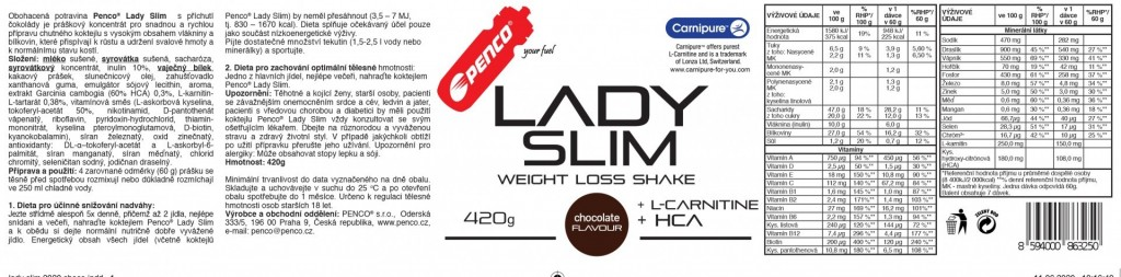 Slimming cocktail LADY SLIM  Čokoláda č.2