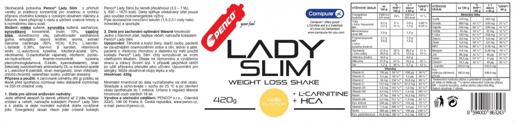 Slimming cocktail LADY SLIM  Vanilla č.2
