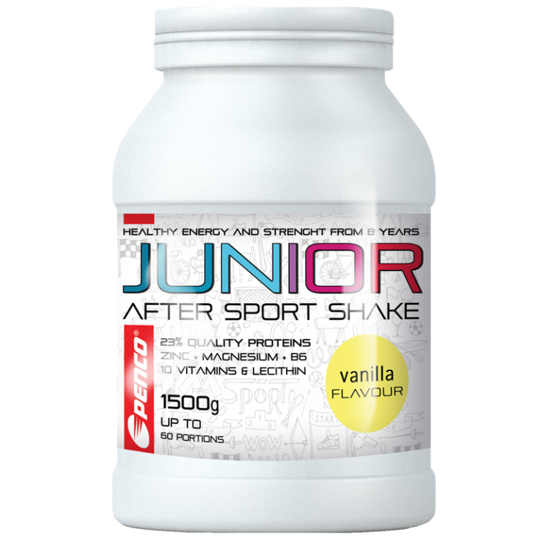 Recovery drink for juniors  JUNIOR AFTER SPORT SHAKE 1500g  Vanilla