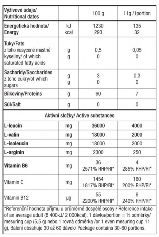 Aminoacids  BCAA INSTANT 8000  Grapefruit 330 g