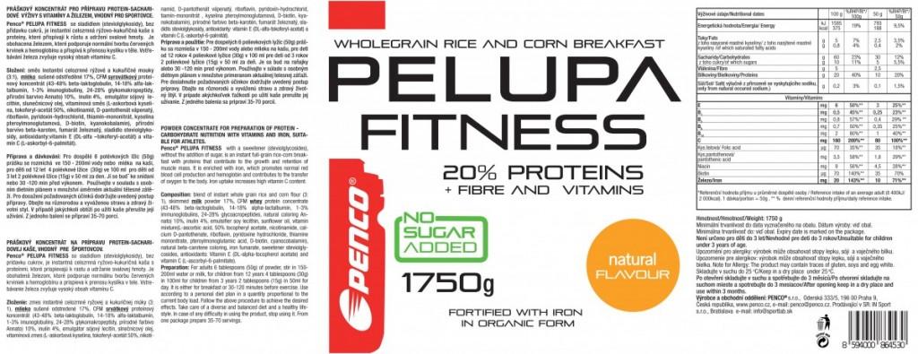 Gluten free porridge  PELUPA FITNESS 1750g  Natural č.2