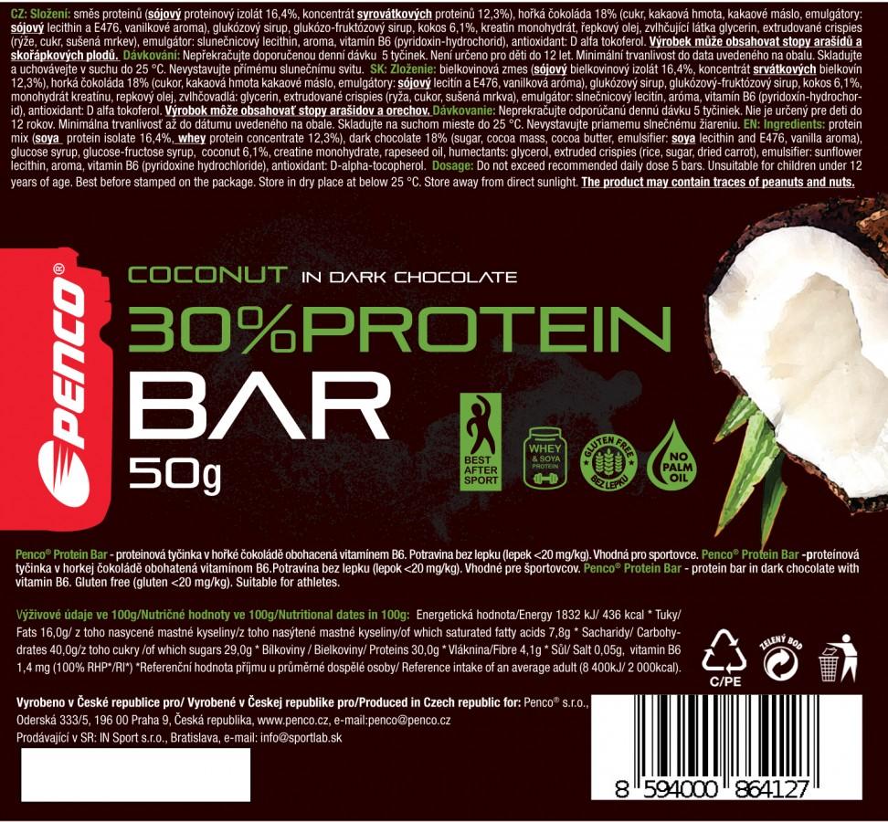 Protein bar  PROTEIN BAR 50g   Coconut in Dark Chocolate č.4