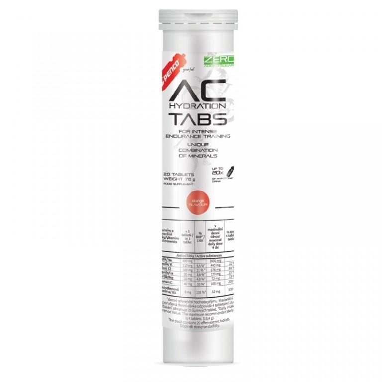 Rozpustné tablety s elektrolytmi   AC HYDRATION TABS   Pomaranč