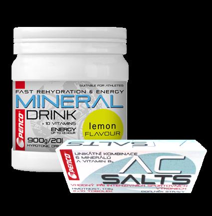 AKCE Iontový nápoj  MINERAL DRINK   Citron + Minerály proti křečím  AC SALTS  2x10 tob. v blistru