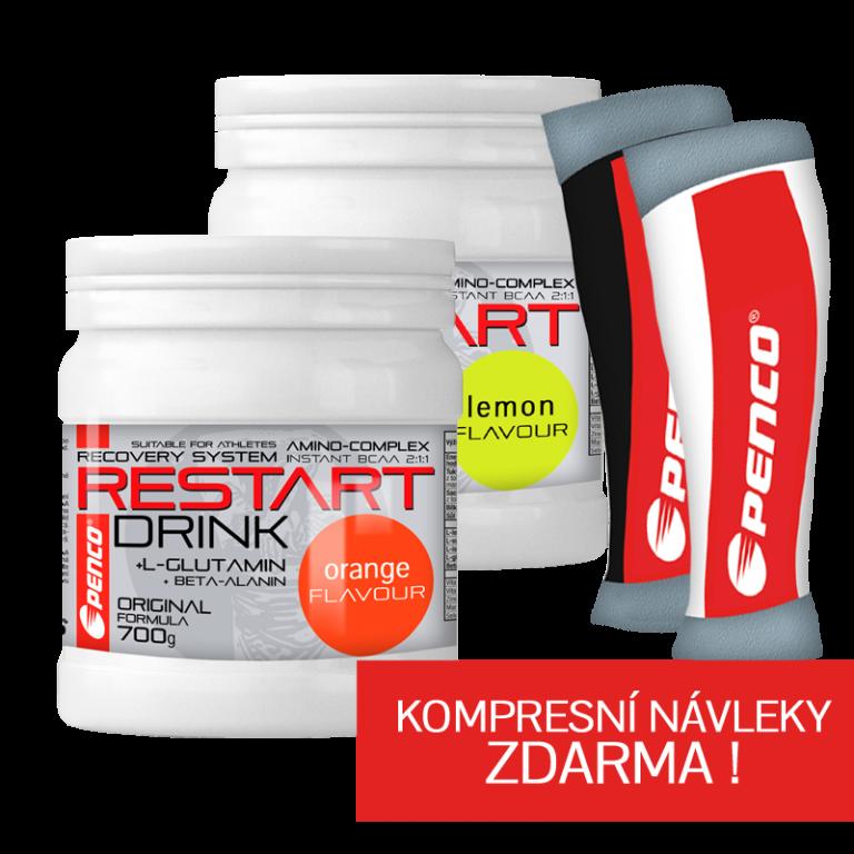AKCE Regenerační nápoj  2X RESTART DRINK  + KOMPRESNÍ NÁVLEKY ZDARMA