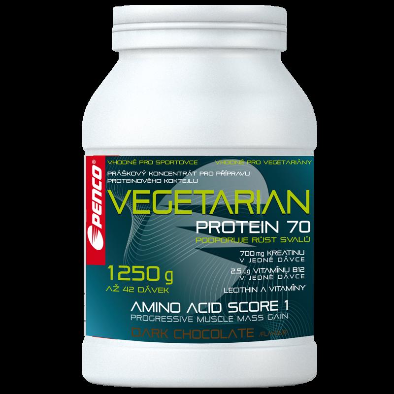Proteinový nápoj  VEGETARIAN PROTEIN 70  Tmavá čokoláda č.1