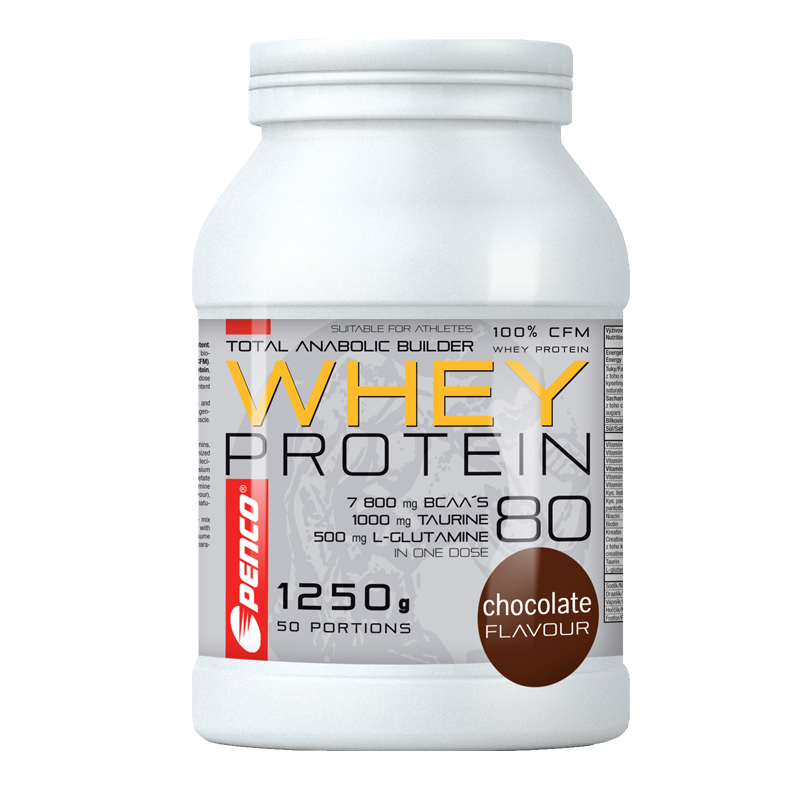 Proteinový nápoj  WHEY PROTEIN 80  Čokoláda č.1