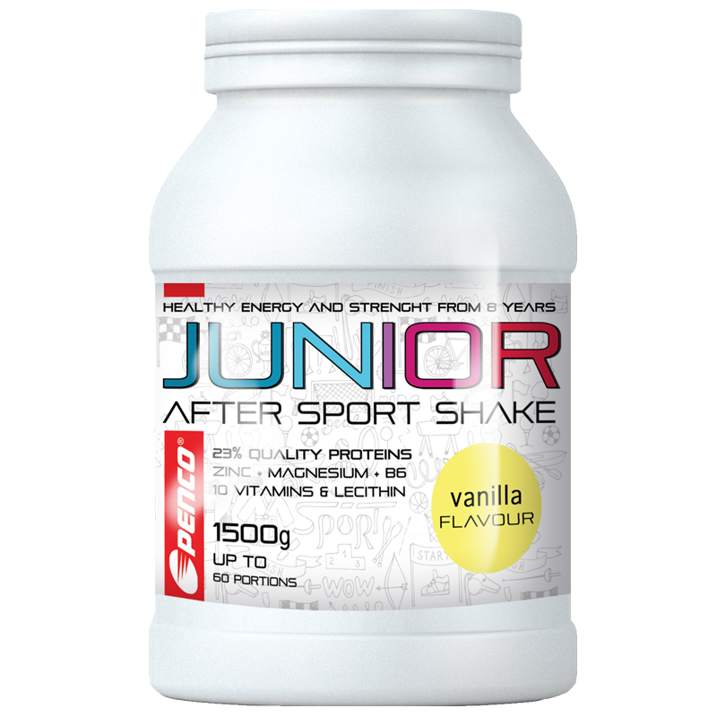Regenerační nápoj pro juniory  JUNIOR AFTER SPORT SHAKE 1500g  Vanilka č.1