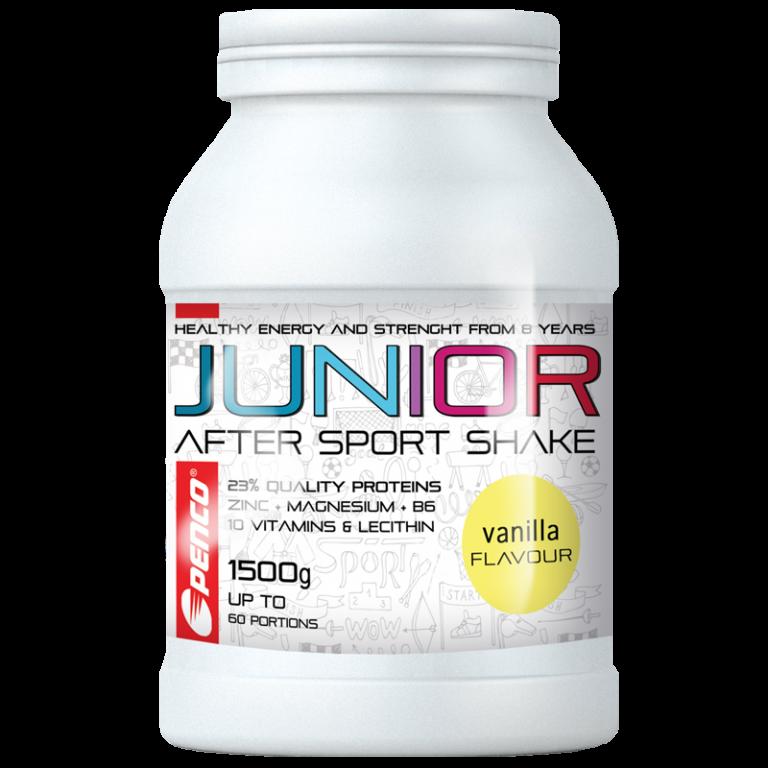 Regenerační nápoj pro juniory  JUNIOR AFTER SPORT SHAKE 1500g  Vanilka