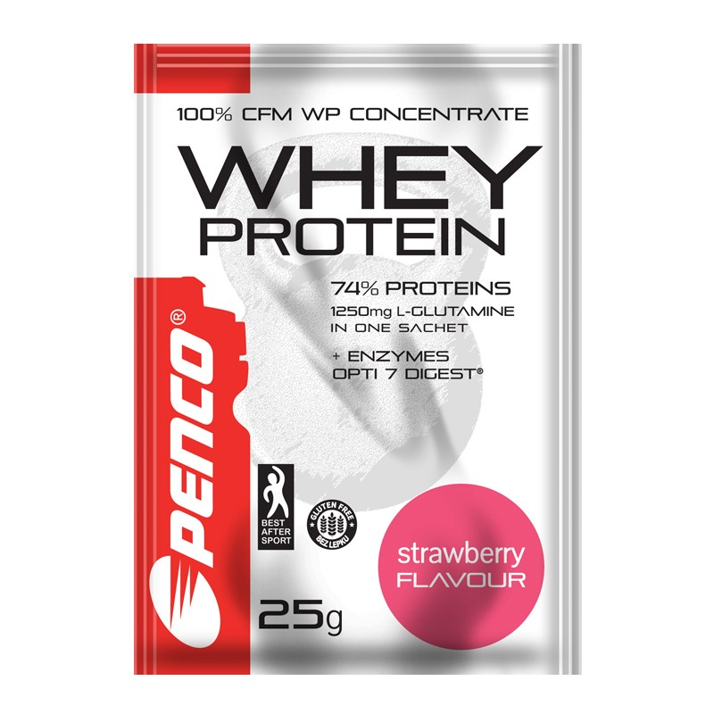Proteinový nápoj  WHEY PROTEIN sáček 25g  Jahoda č.1