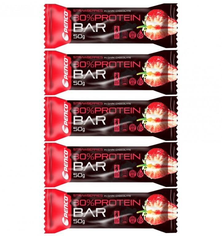 Proteinová tyčinka   PROTEIN BAR 50g   Jahoda v pravé čokoládě č.3