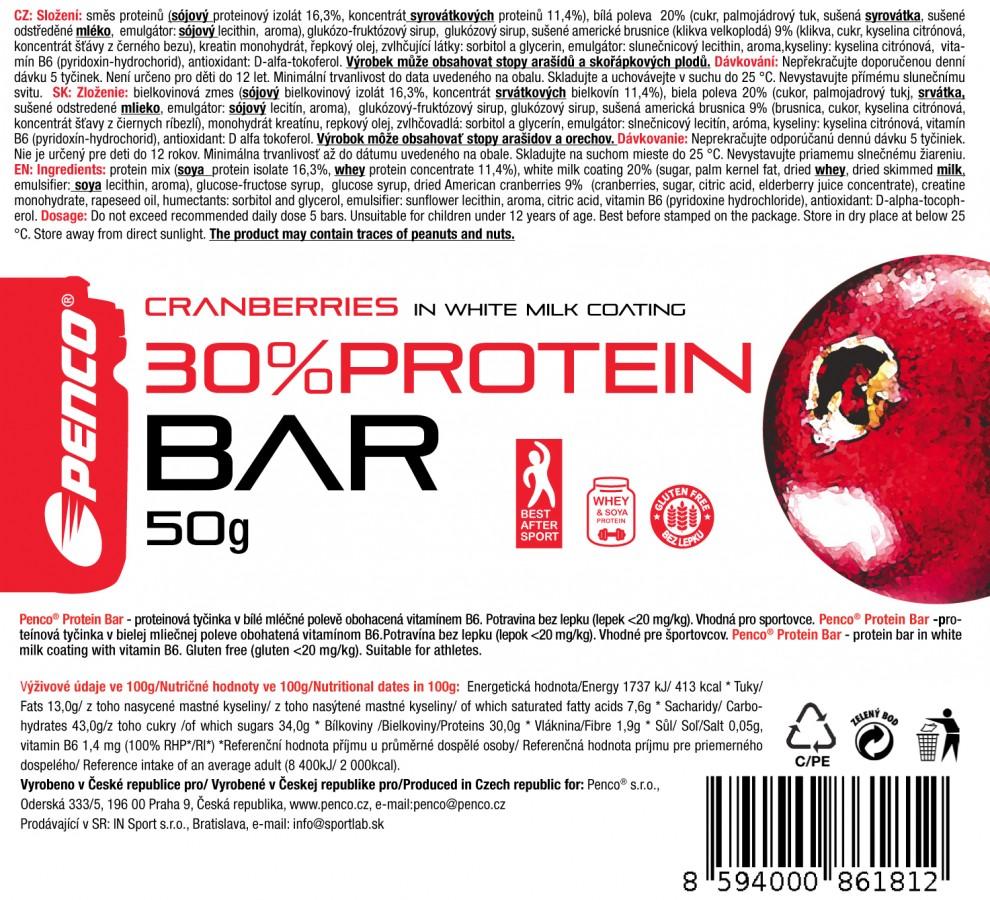 Proteinová tyčinka   PROTEIN BAR 50g   Brusinka č.5