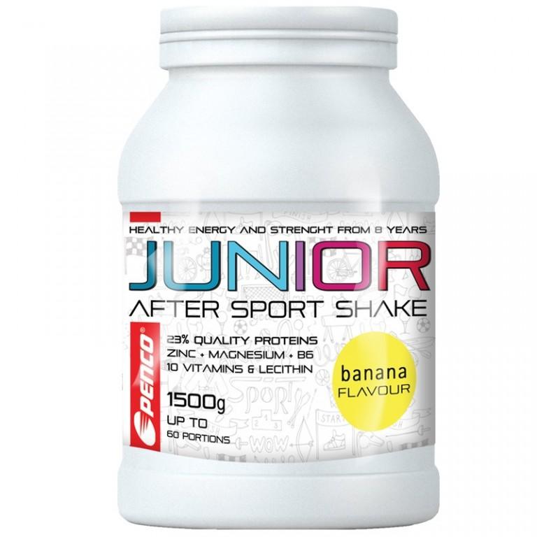Regenerační nápoj pro juniory  JUNIOR AFTER SPORT SHAKE 1500g  Banán č.1