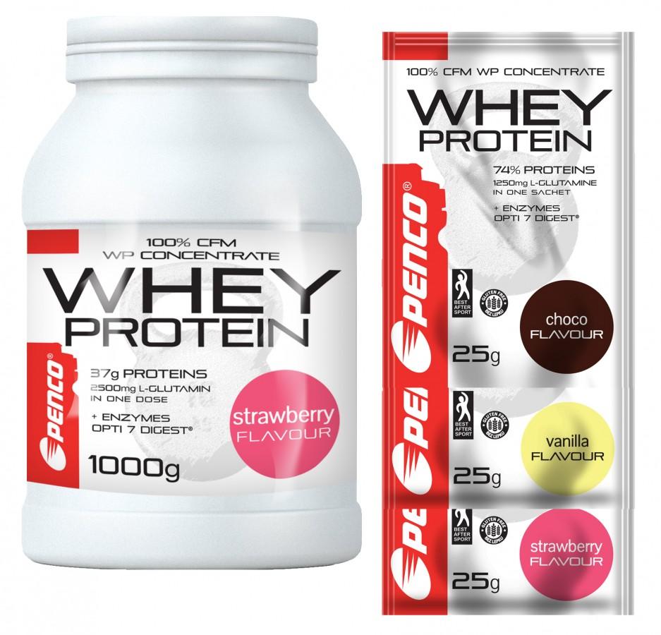 AKCE Proteinový nápoj  WHEY PROTEIN 1000g  Jahoda č.1
