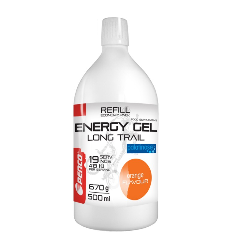 Energetický gel   LONG TRAIL REFILL+ SOFT FLASK   Pomeranč č.3