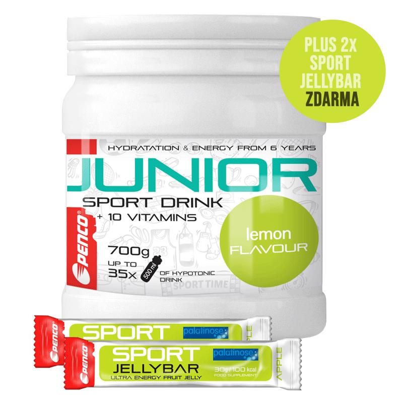 Iontový nápoj pro děti   AKCE JUNIOR SPORT DRINK 700g   Citron + 2X SPORT JELLY BAR č.1