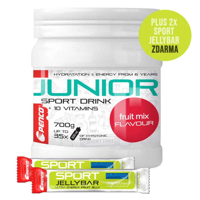 Iontový nápoj pro děti   AKCE JUNIOR SPORT DRINK 700g   Fruit Mix + 2X SPORT JELLYBAR