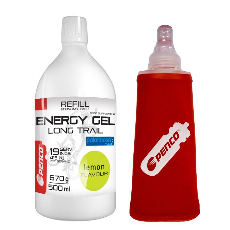 Energetický gel   LONG TRAIL REFILL   Citron + Penco Soft Flask 150ml č.1