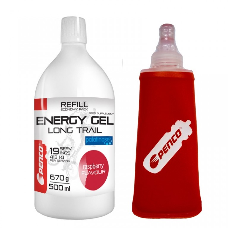 Energetický gel   LONG TRAIL REFILL + SOFT FLASK   Malina č.1