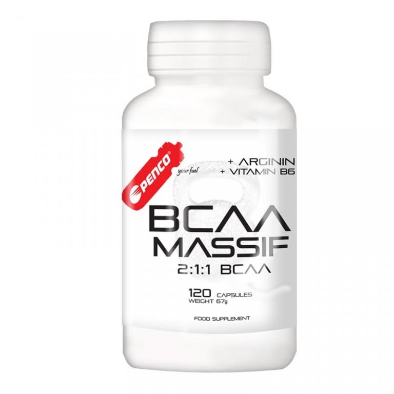 Aminokyseliny  BCAA MASSIF  120 tobolek č.1