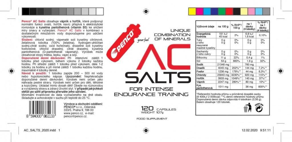 Minerály proti křečím  AC SALTS  120 tobolek č.2