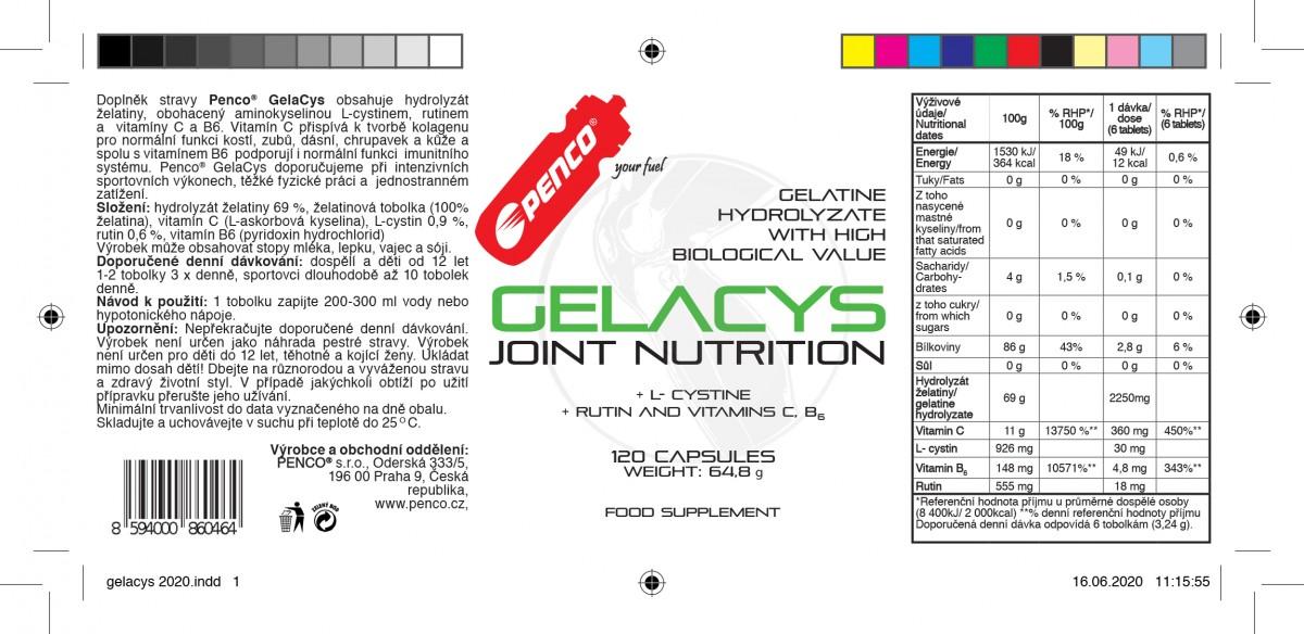 Želatina na klouby  GELACYS  120 tobolek č.2