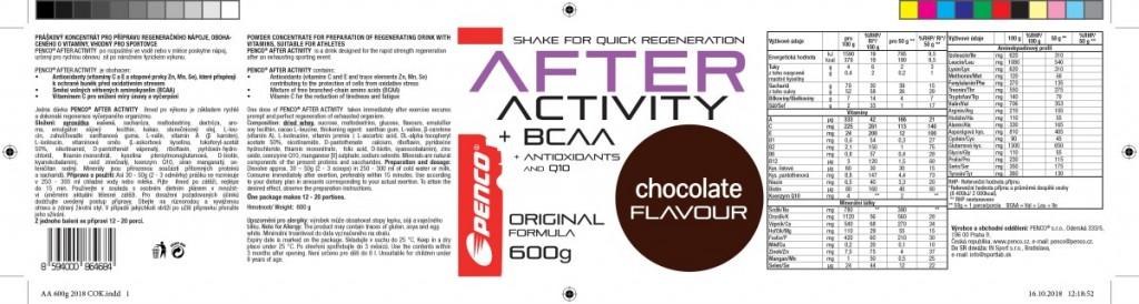 Regenerační nápoj   AFTER ACTIVITY   Čokoláda č.4