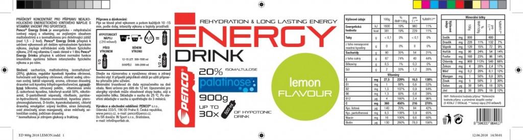 Iontový nápoj  ENERGY DRINK 900g  Citron č.5