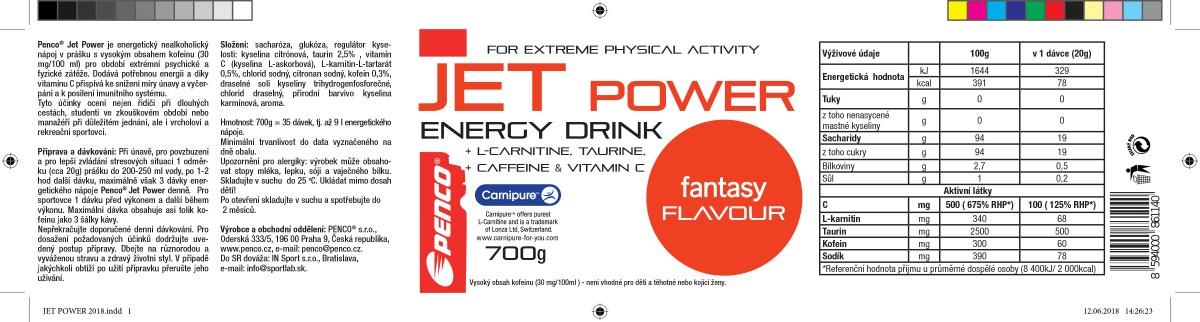 Energetický nápoj  JET POWER 700g   č.2