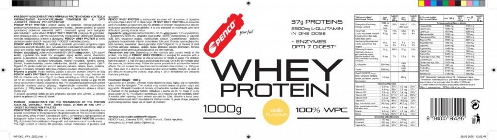 Proteinový nápoj  WHEY PROTEIN  Vanilka č.5