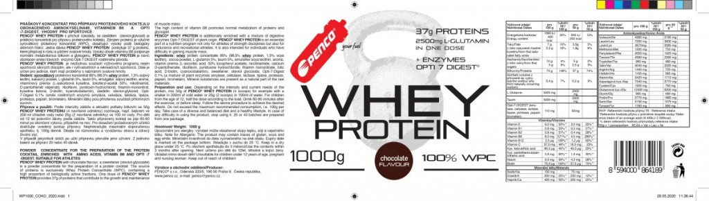 Proteinový nápoj  WHEY PROTEIN  Čokoláda č.5