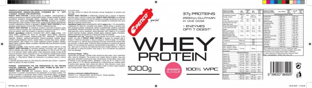 Proteinový nápoj  WHEY PROTEIN  Jahoda č.5
