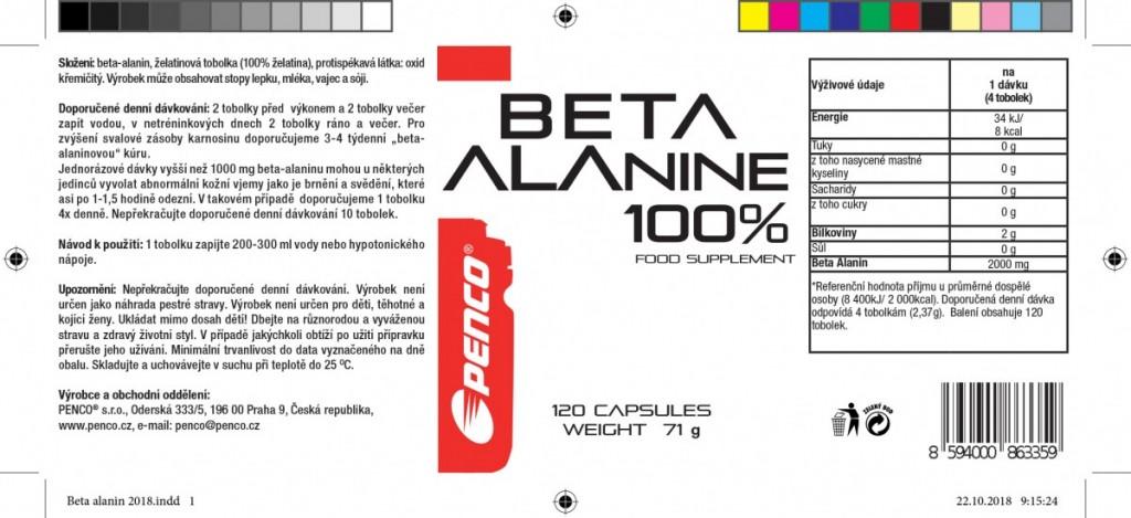 Aminokyseliny   BETA ALANINE   120 tobolek č.2