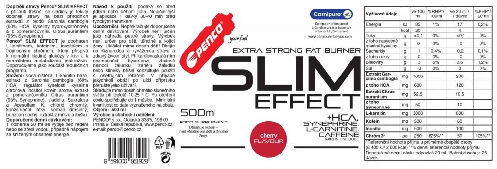 Spalovač tuků  SLIM EFFECT 500ml  Třešeň č.2