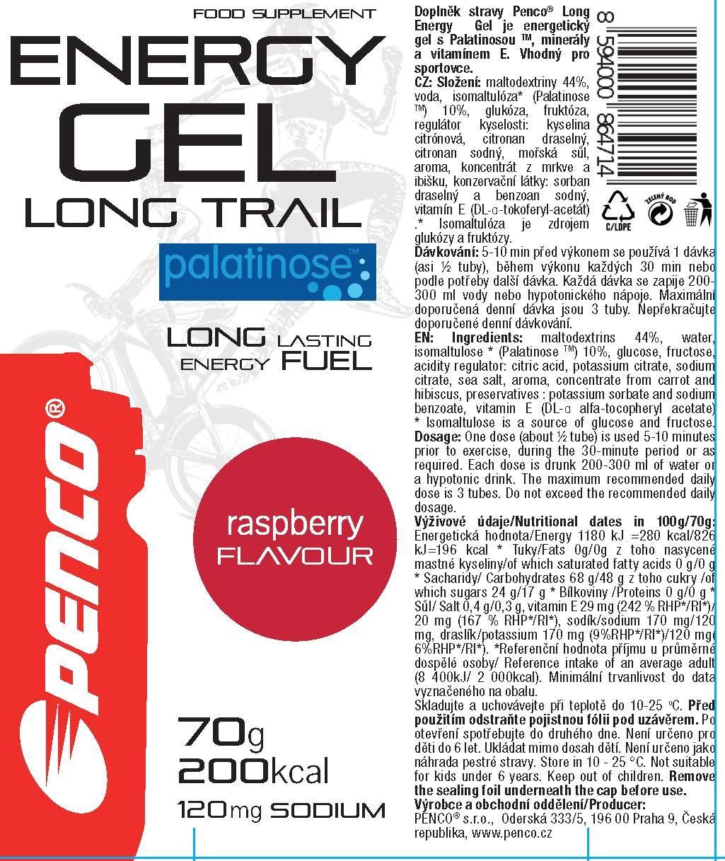 Energetický gel   LONG TRAIL TUBA 70g   Malina č.3