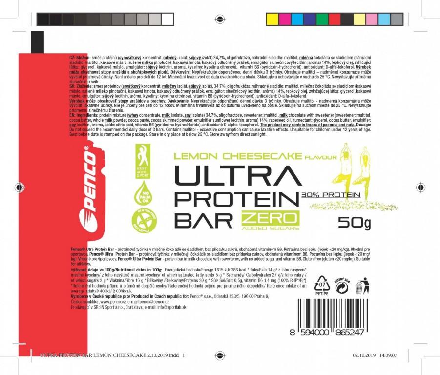 Proteinová tyčinka   ULTRA PROTEIN BAR 50g   Cheesecake č.4