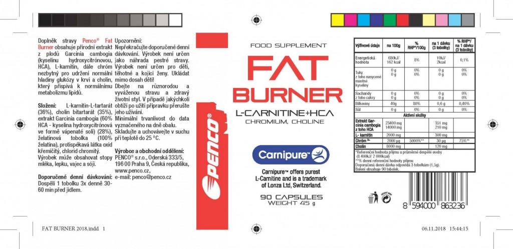 Spalovač tuků  FAT BURNER  č.3
