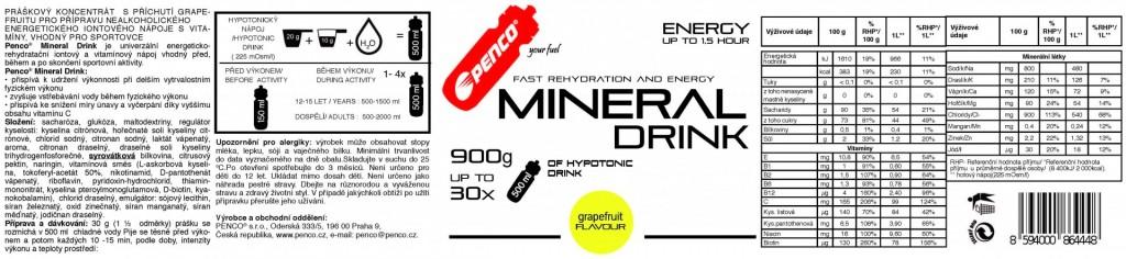 Iontový nápoj  MINERAL DRINK  Grapefruit č.5