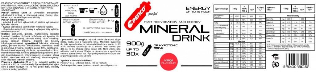 Iontový nápoj  MINERAL DRINK  Pomeranč č.3
