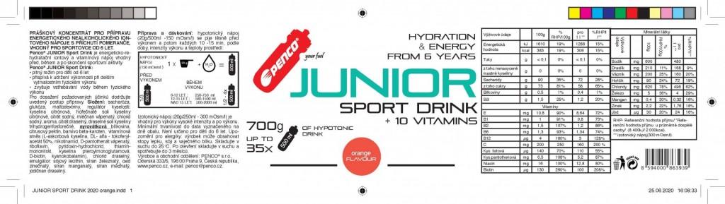 Iontový nápoj pro děti   JUNIOR SPORT DRINK 700g   Fruit Mix č.2