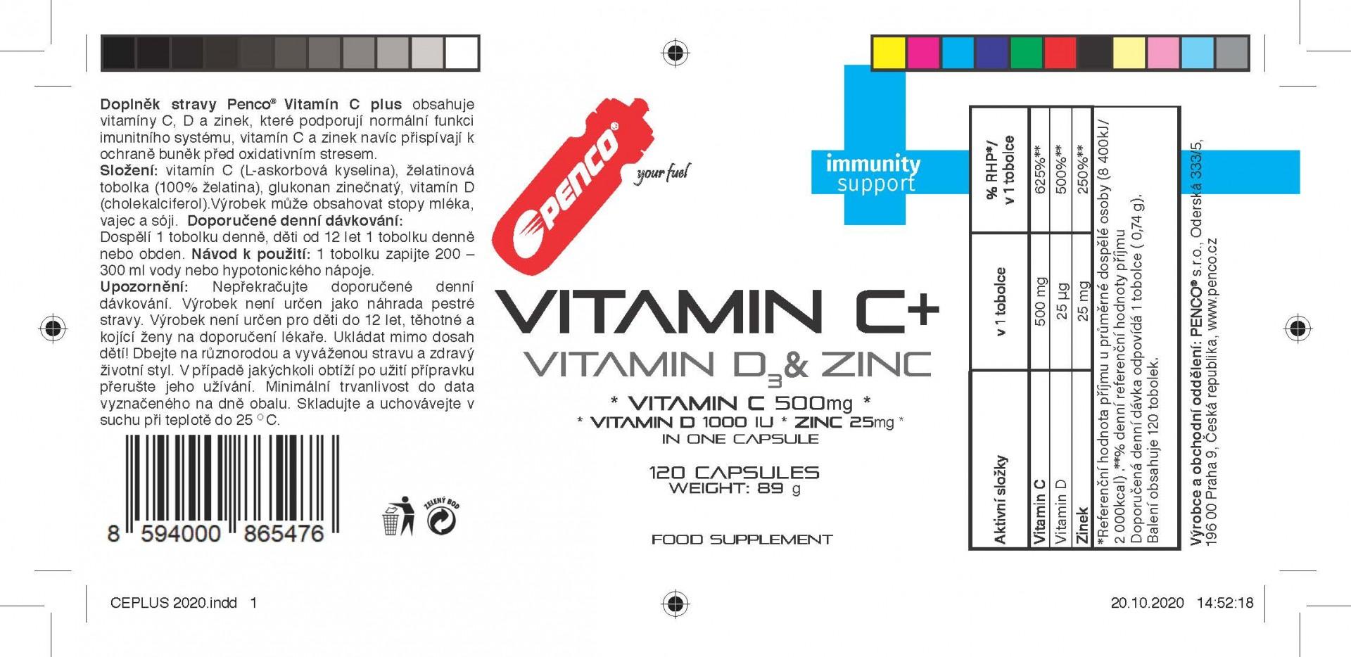 Multivitamin s minerály  VITAMIN C PLUS   120 tobolek č.2