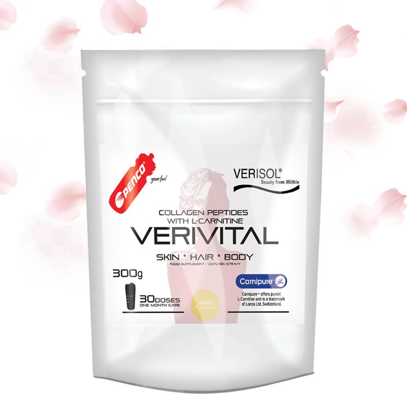 Kolagenní peptidy na pleť  VERIVITAL 300g   Vanilka č.1
