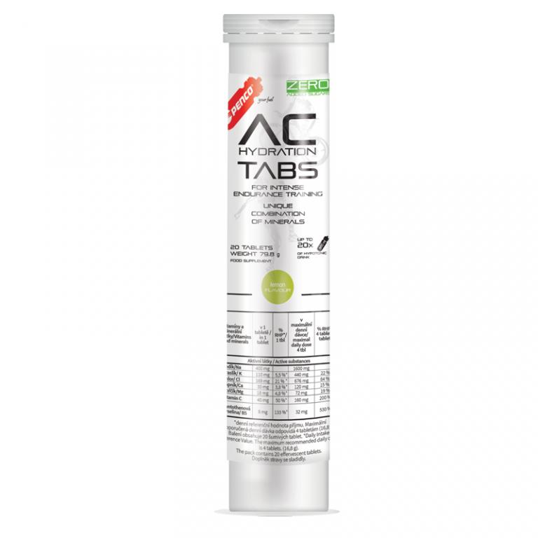 Rozpustné tablety s elektrolyty   AC HYDRATION TABS   Citron