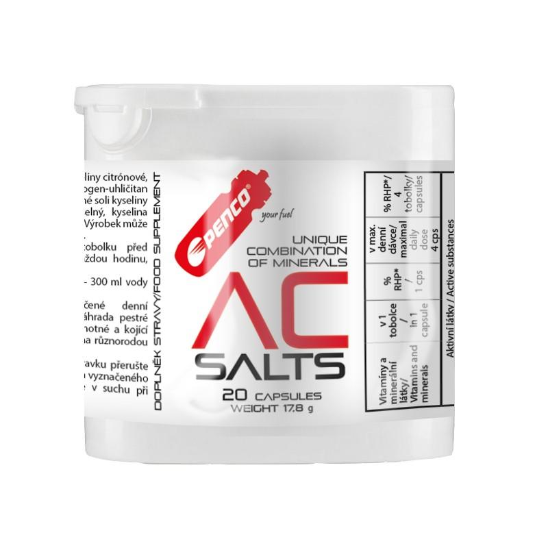 Minerály proti křečím  AC SALTS  20 tbl. v praktickém cestovním balení č.1
